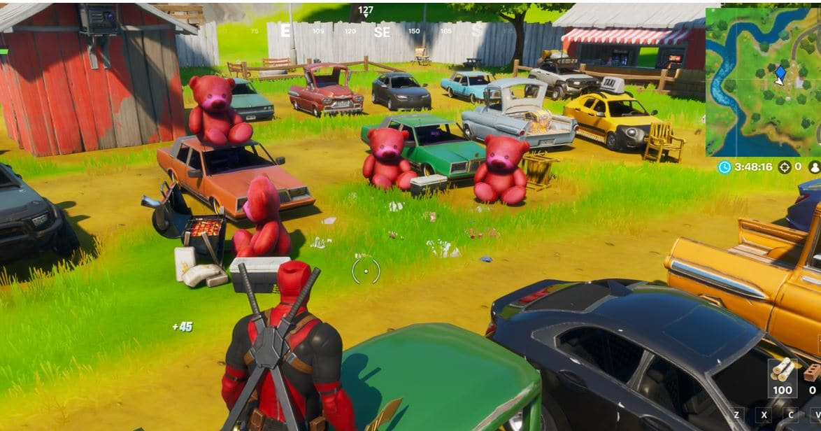 Fortnite Giant Pink Teddy Bears Map Location