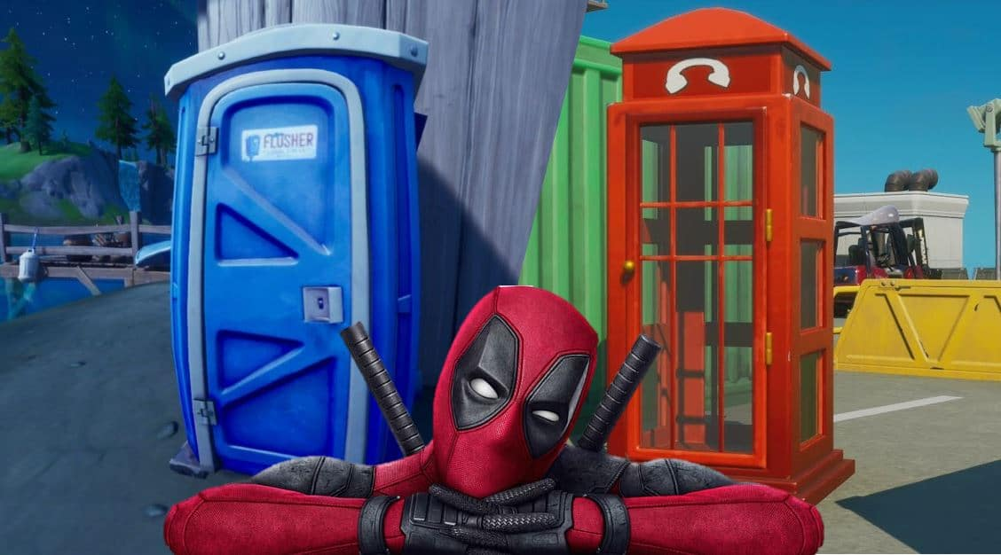 Fortnite Phone Booth and Portapotty Locations Deadpool Challenge