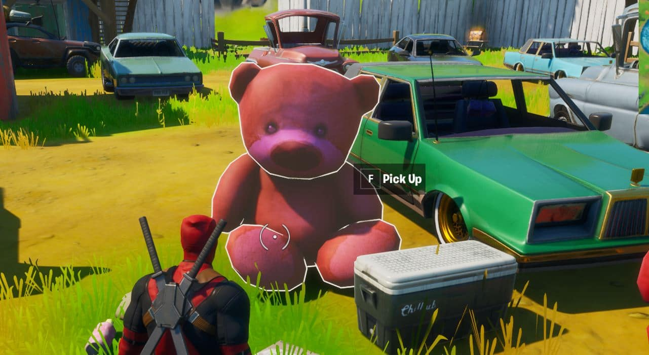 Fortnite Risky Reels Pink Teddy Bear Challenge