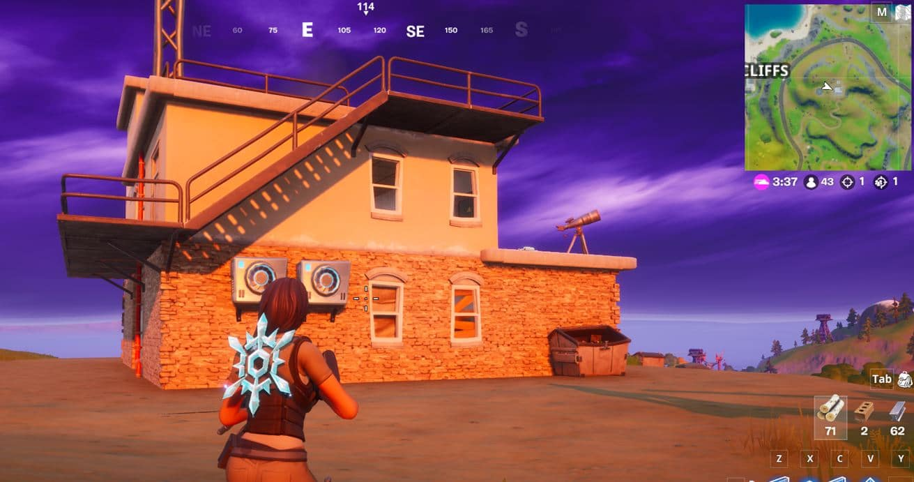 Fortnite Spy Base Locations - East of Craggy Cliffs