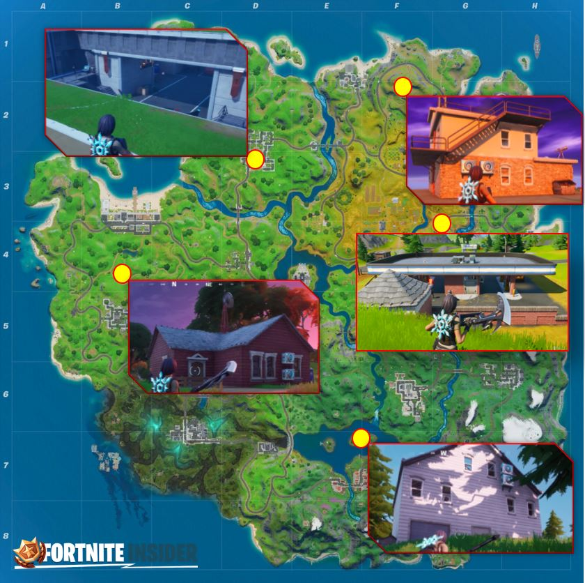 Fortnite Spy Bases Map Location