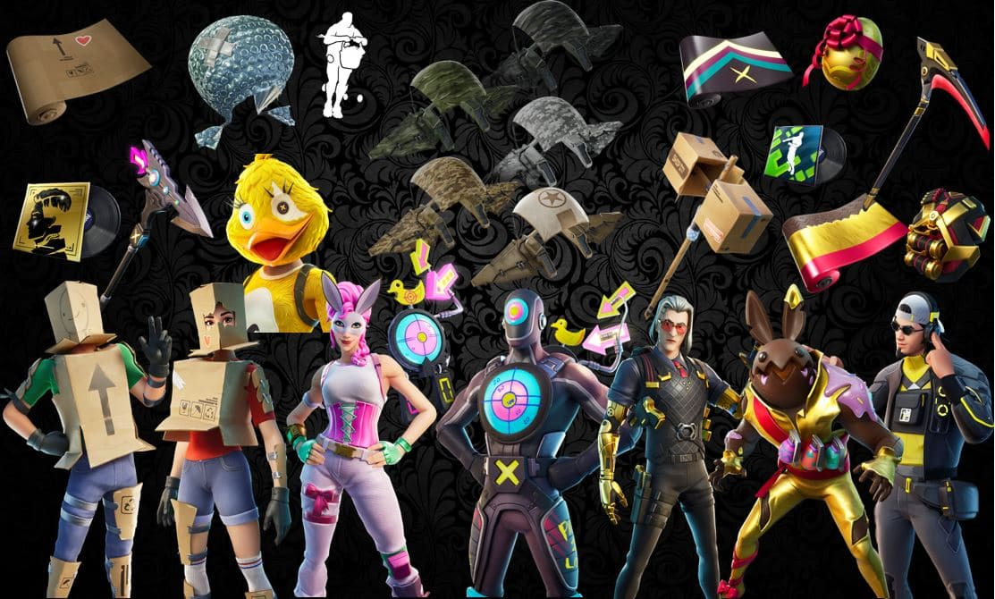 Names and Rarities of All Leaked Fortnite Cosmetics Found in v12.30 Files – Skins, Back Blings, Gliders, Pickaxes, Emotes & Wraps
