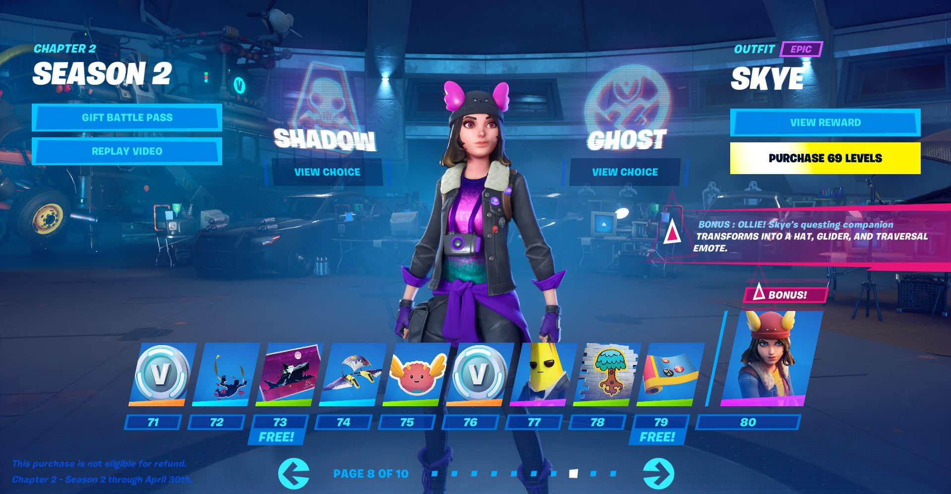 Skye Shadow Fortnite Skin Style