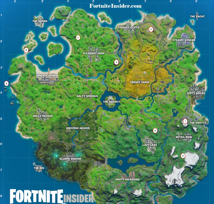 Skye's Sword in a stone found in high places Fortnite Map Locations