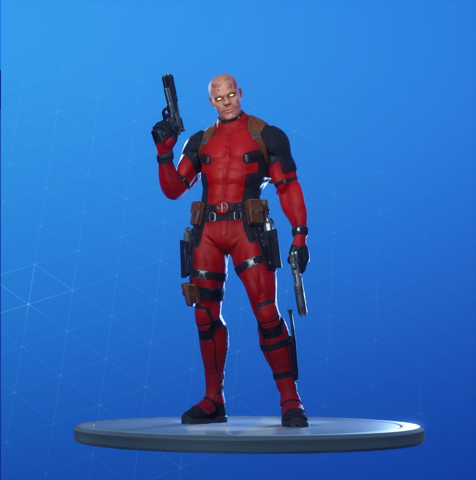 Unmasked Deadpool Skin Style Fortnite