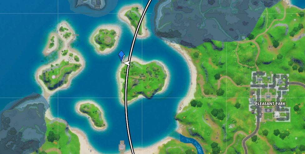 Visit the Stage north of sweaty sands Fortnite Map Location
