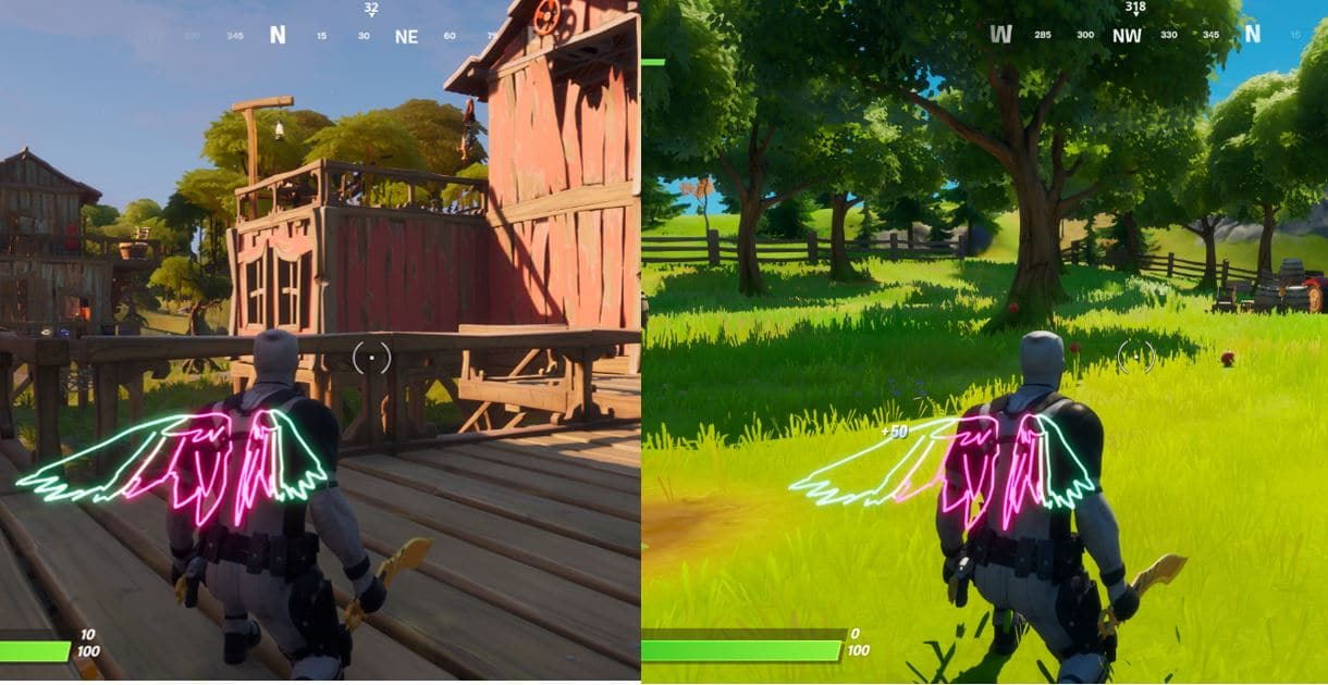 Fortnite Shanty Town and The Orchard Locations