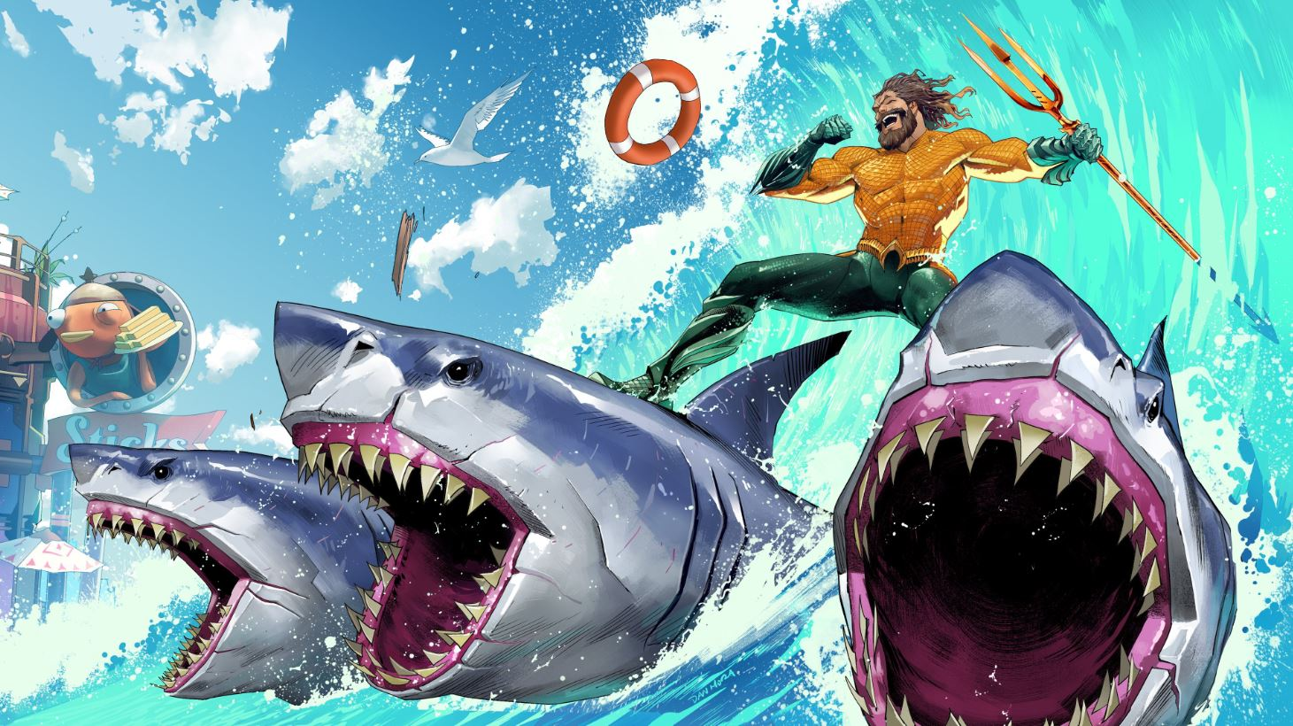 Aquaman Fortnite week 1 loading screen