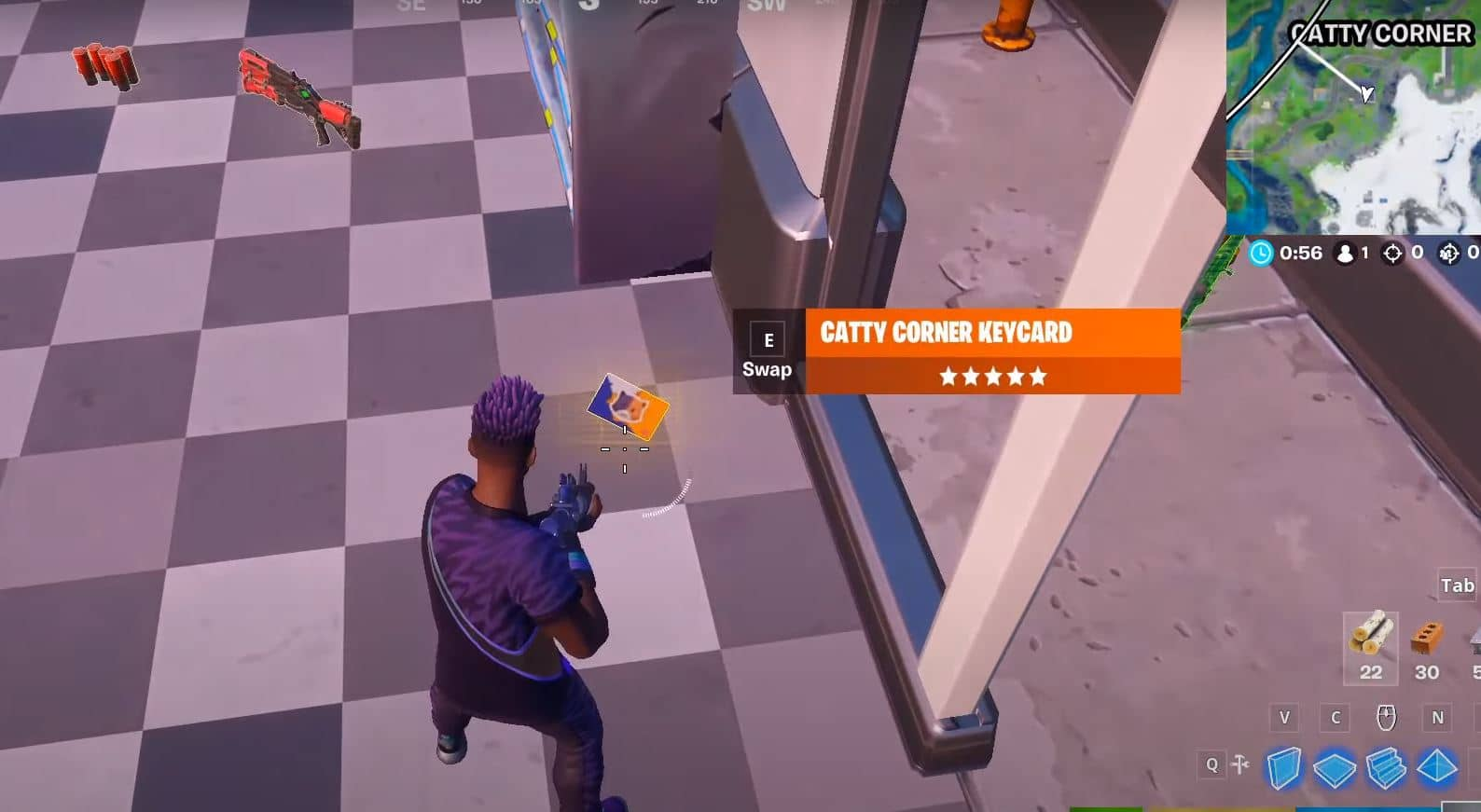 Fortnite Catty Corner Keycard