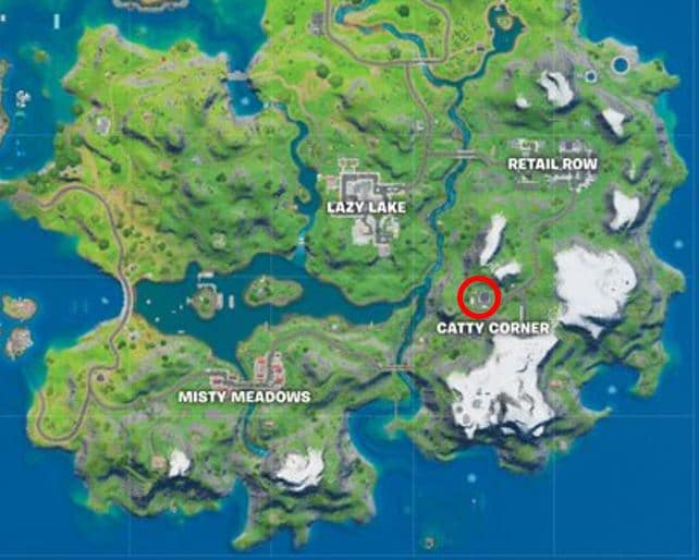 Fortnite Catty Corner Vault Location