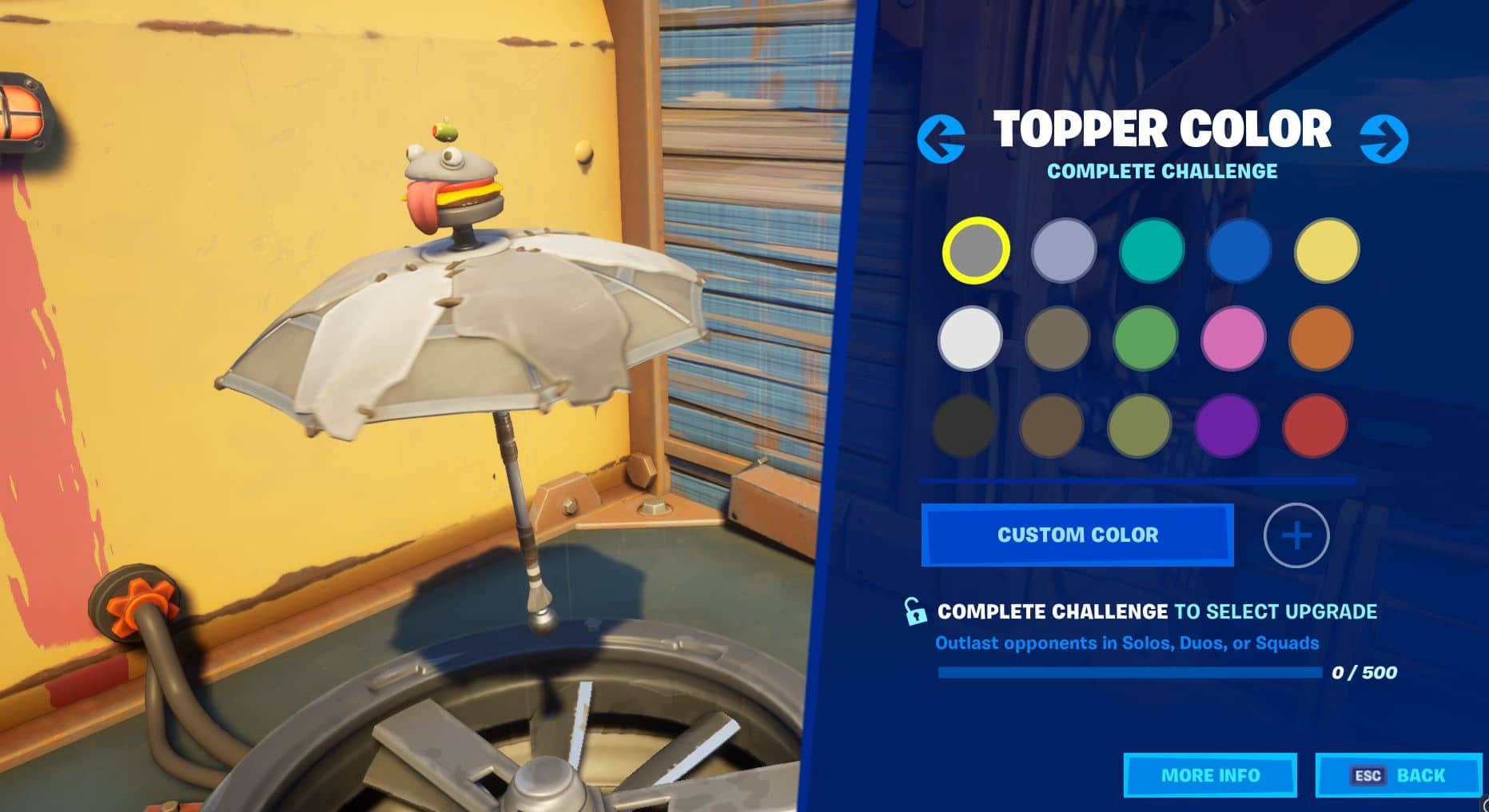 Fortnite Topper Color