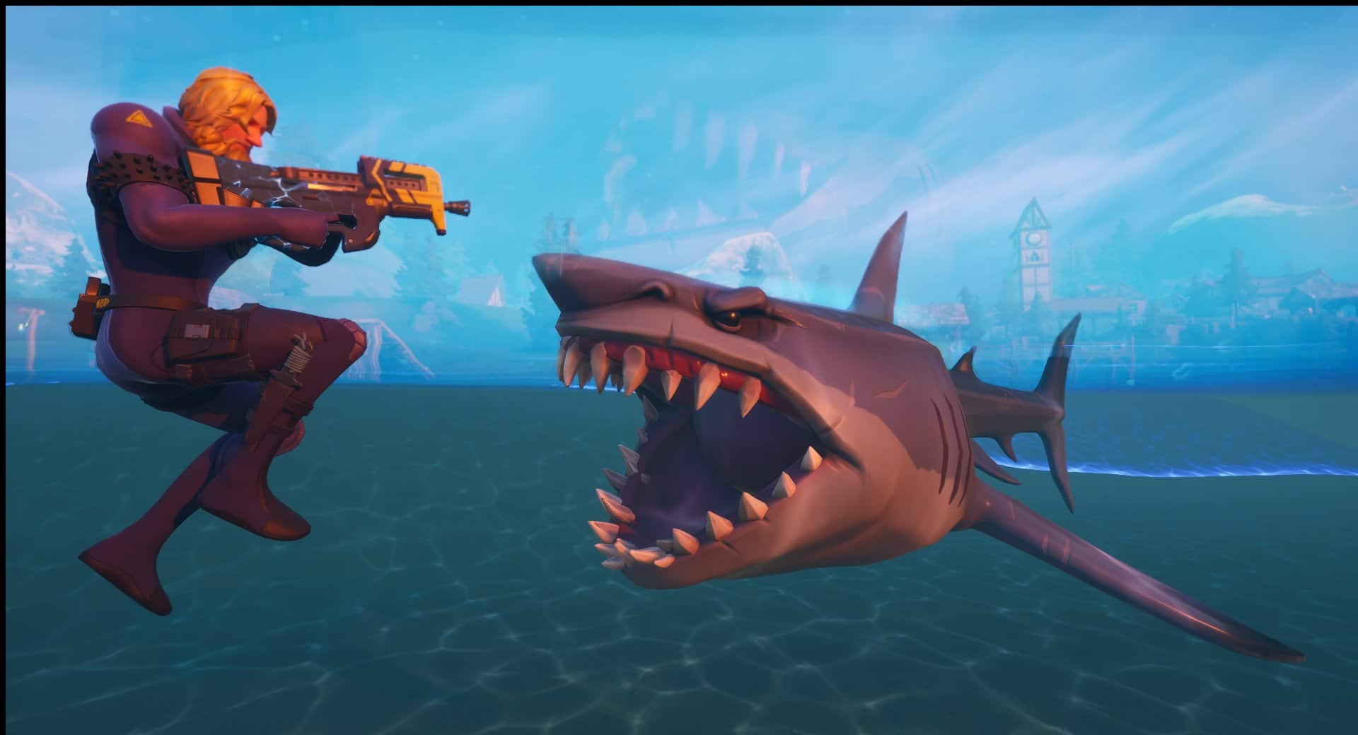 How to ride sharks in Fortnite