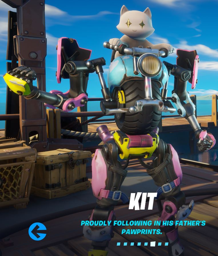 Kit Fortnite Season 3 Battle Pass Skin And Unlockable Styles Fortnite Insider Following in his father's pawprints, kit is the next generation of meowscles who built a mechanical suit for him to ride on. kit fortnite season 3 battle pass skin