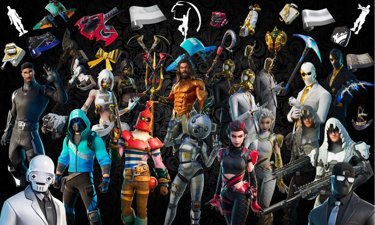 Names And Rarities Of All Leaked Fortnite Cosmetics Found In V13 00 Files Skins Back Blings Gliders Pickaxes Emotes Wraps Fortnite Insider
