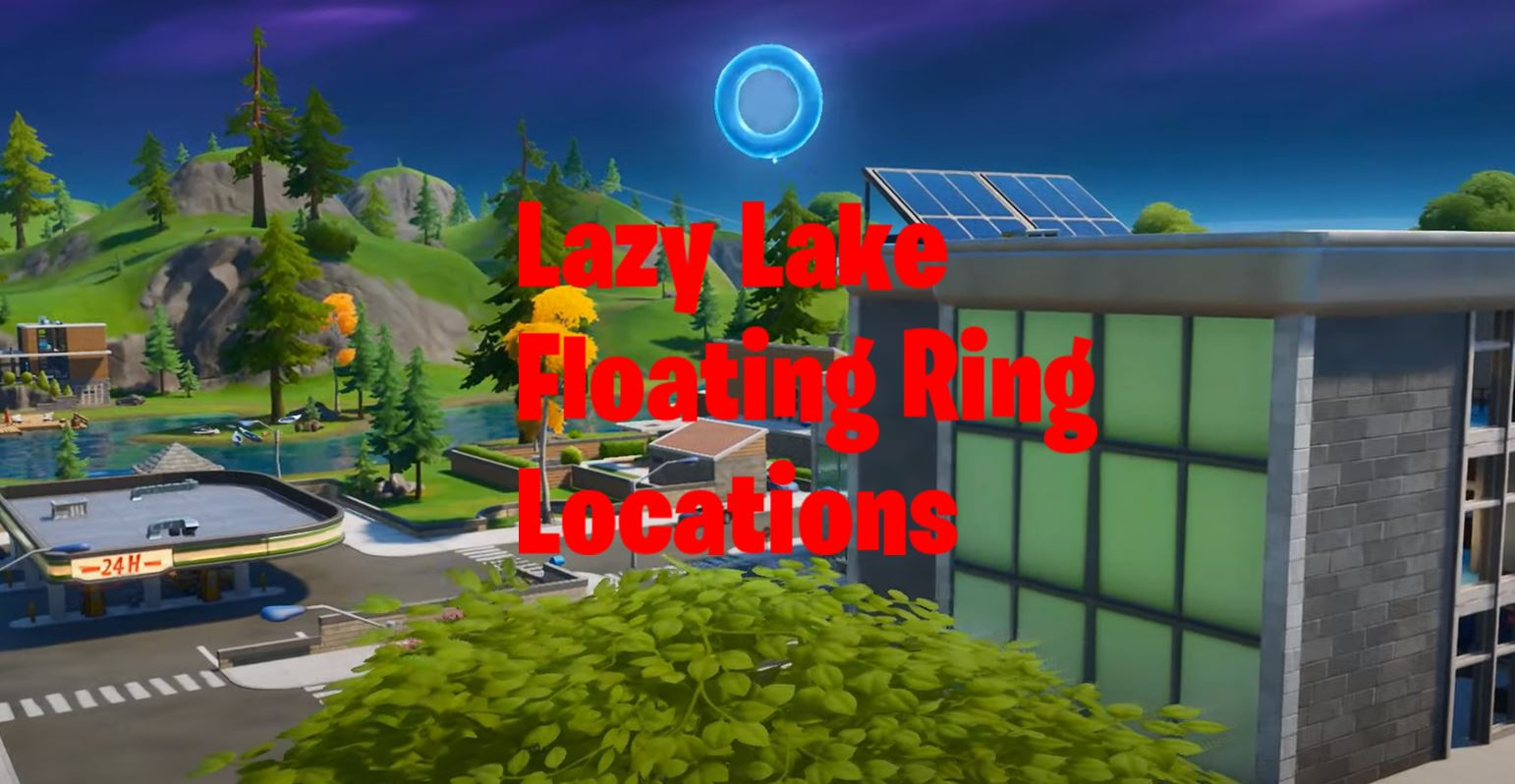 Collect Floating Rings in Lazy Lake Fortnite