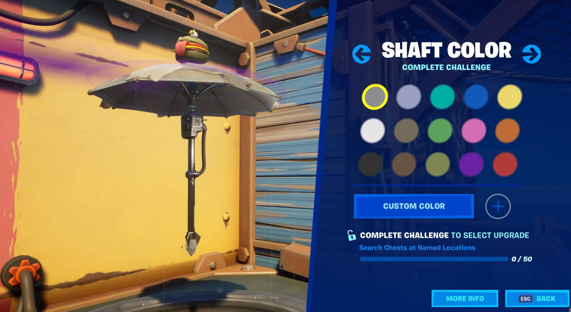 Fortnite Build A Brella Shaft Color Challenge
