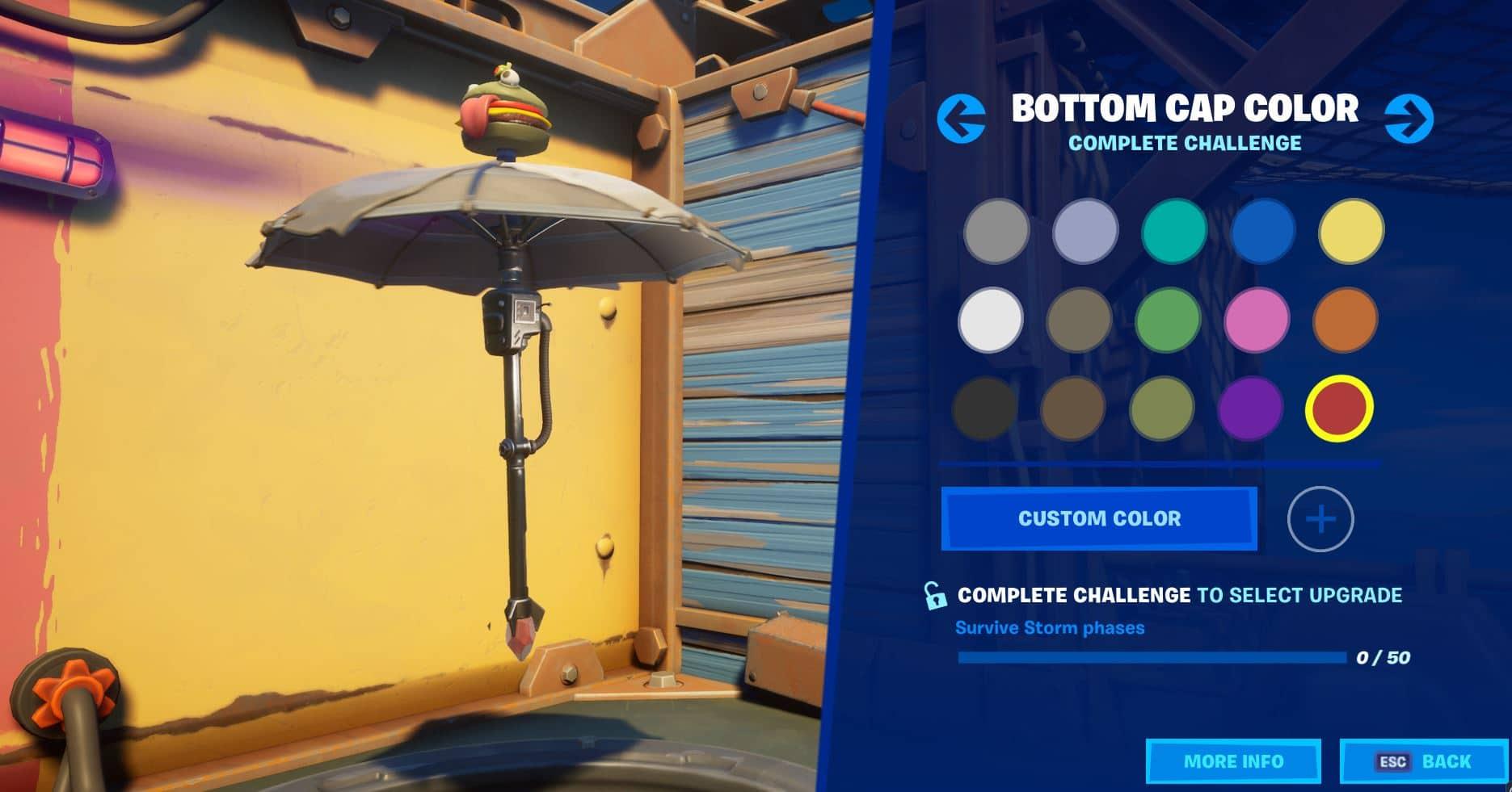 Fortnite Build a Brella Bottom Cap Color Challenge