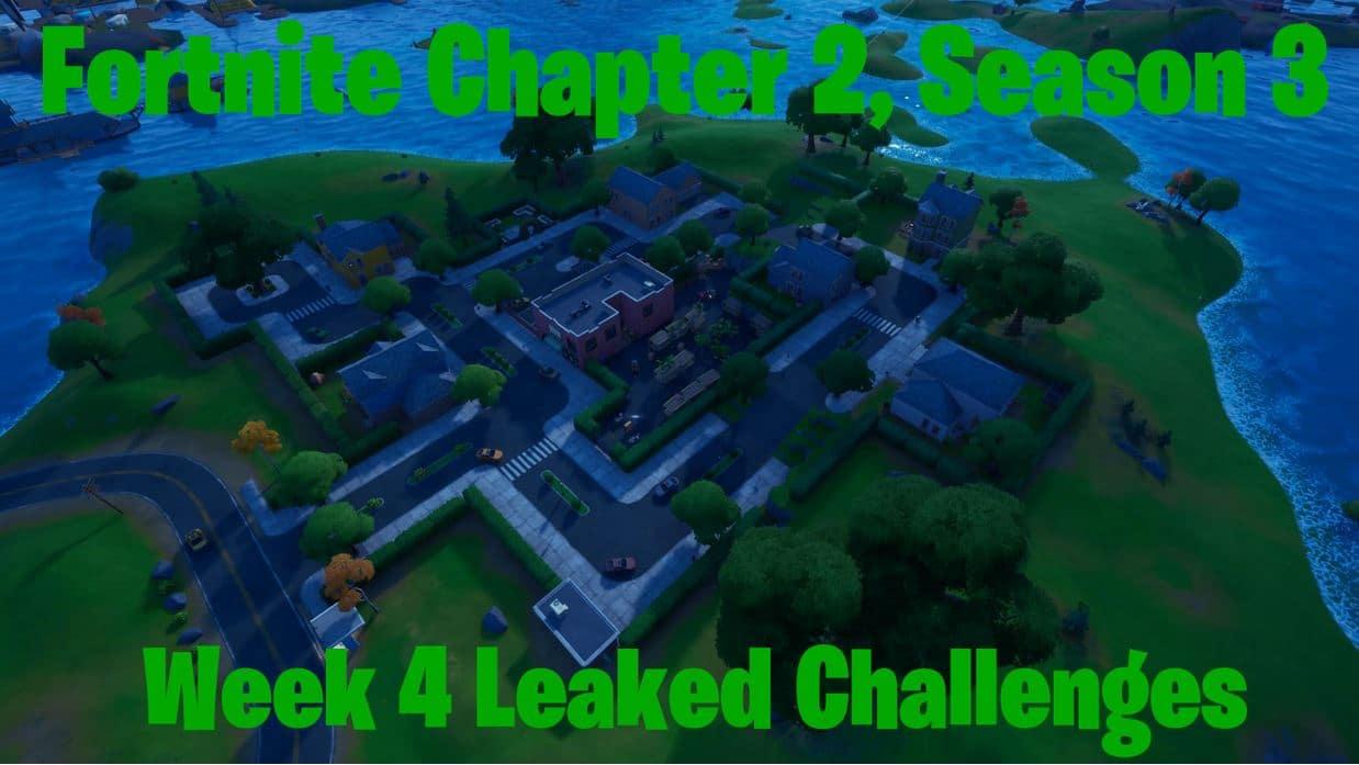 Fortnite Chapter 2, Season 3 - Week 4 Leaked Challenges