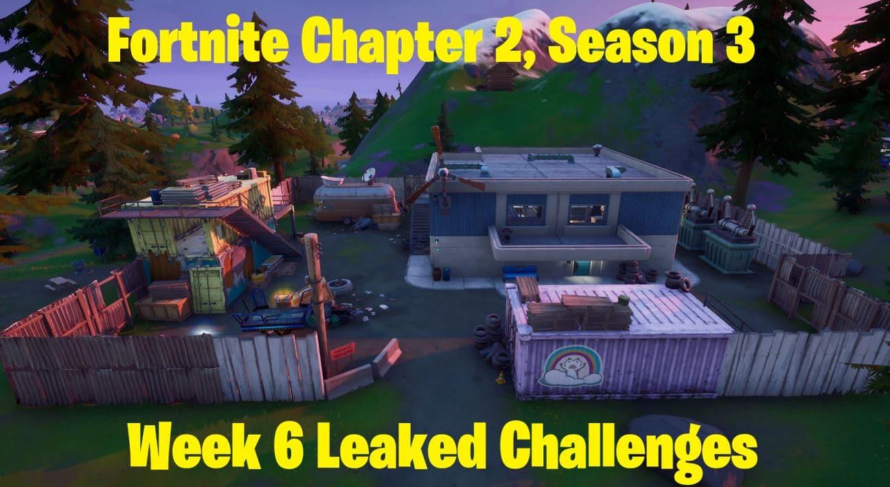 Fortnite Chapter 2, Season 3 Week 6 Leaked Challenges 1