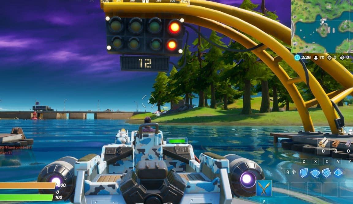 Fortnite Complete a Lap at Motorboat Mayhem