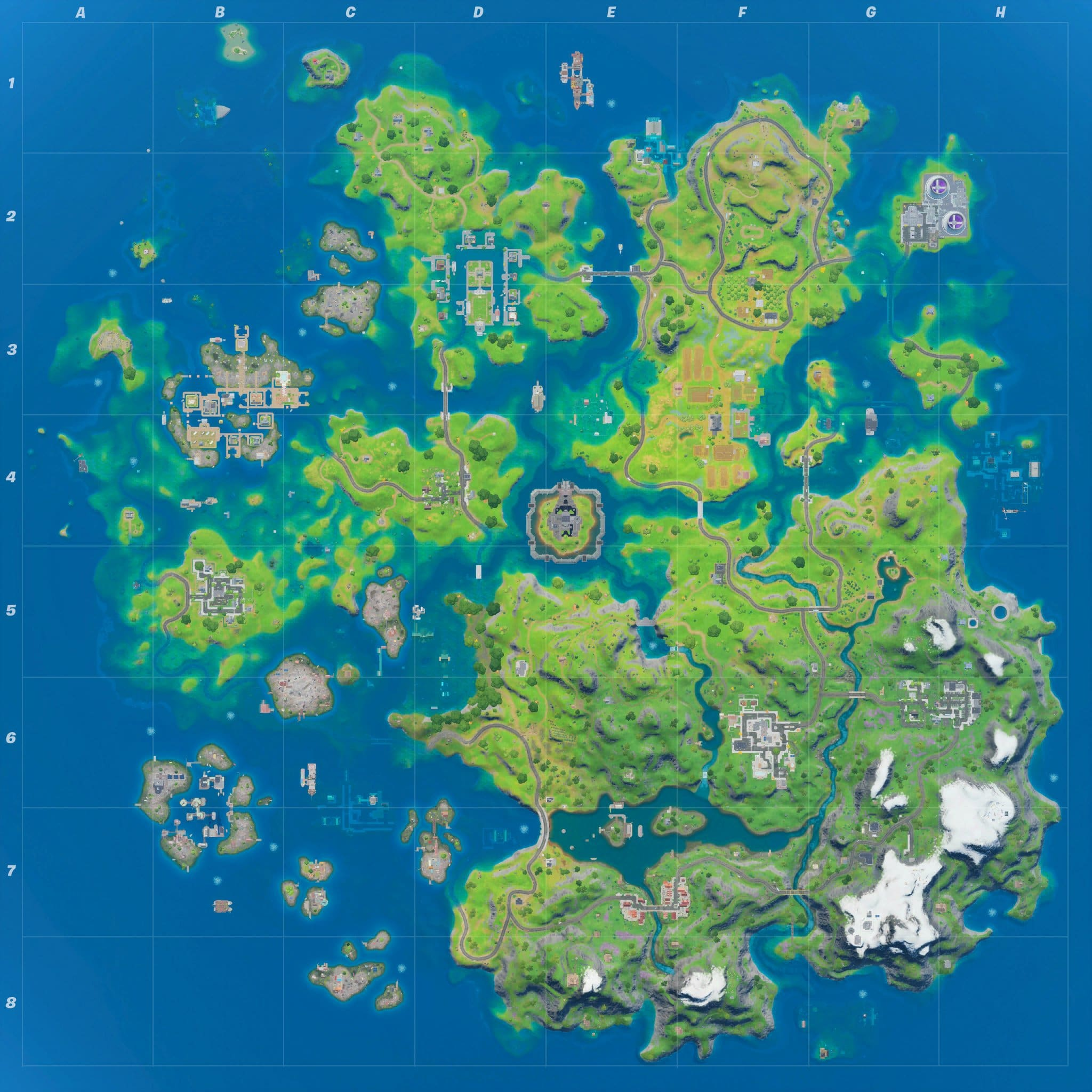 Fortnite Map current water levels