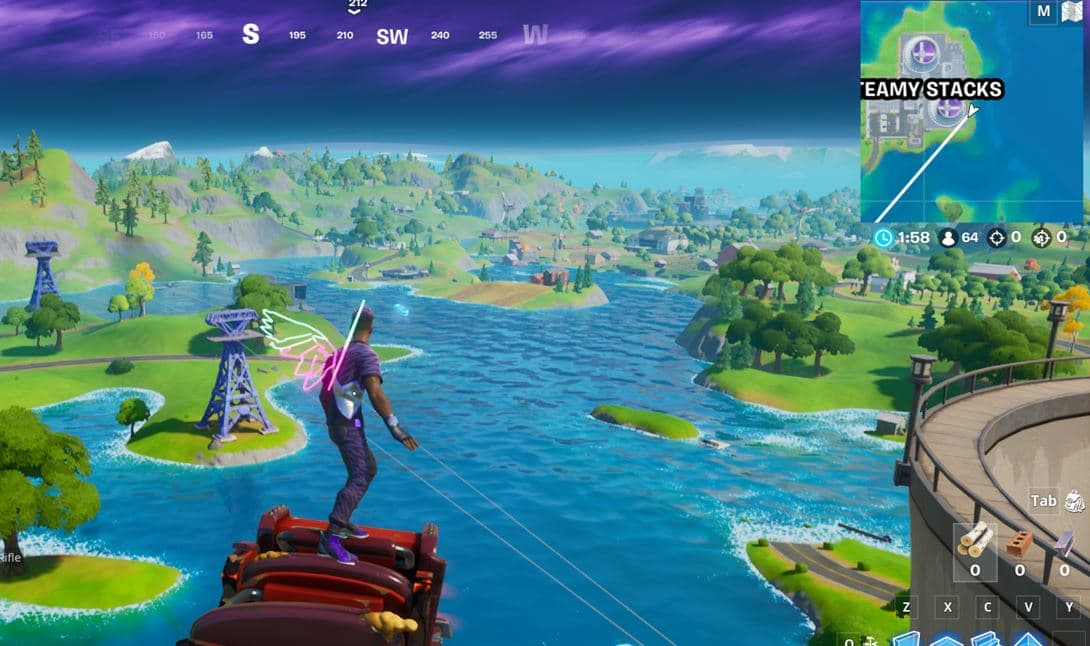 Fortnite Steamy Stacks Floating Ring Location 4