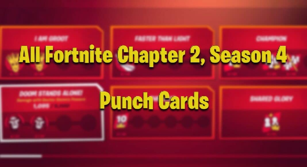 All Fortnite Chapter 2 Season 4 Punch Cards List