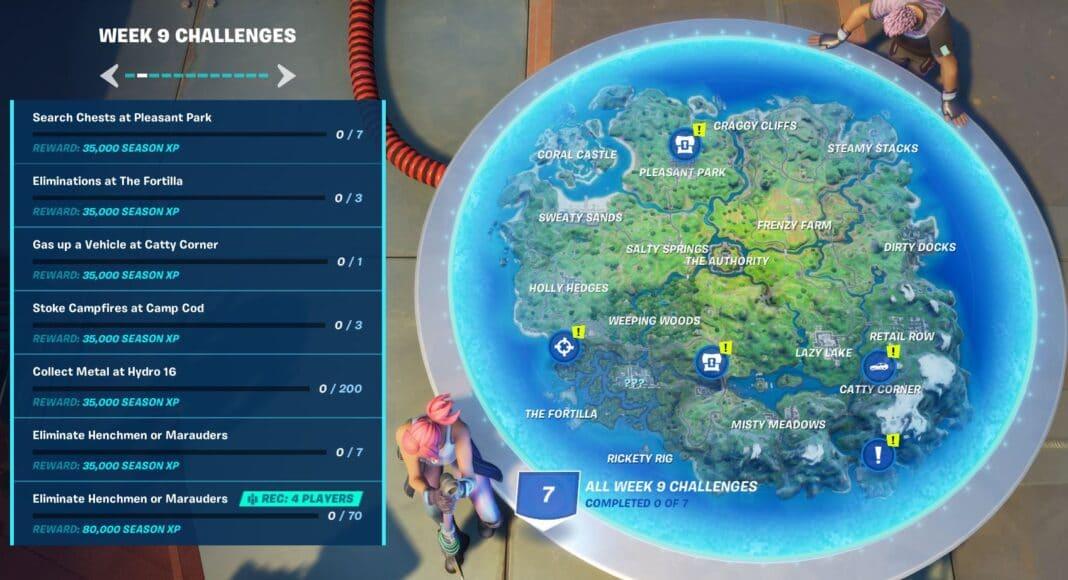 Fortnite Chapter 2, Season 3 Week 9 Challenges