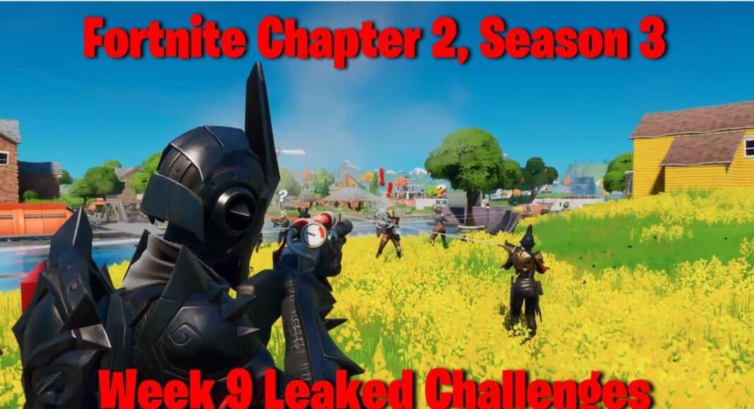 Fortnite Chapter 2, Season 3 Week 9 Leaked Challenges