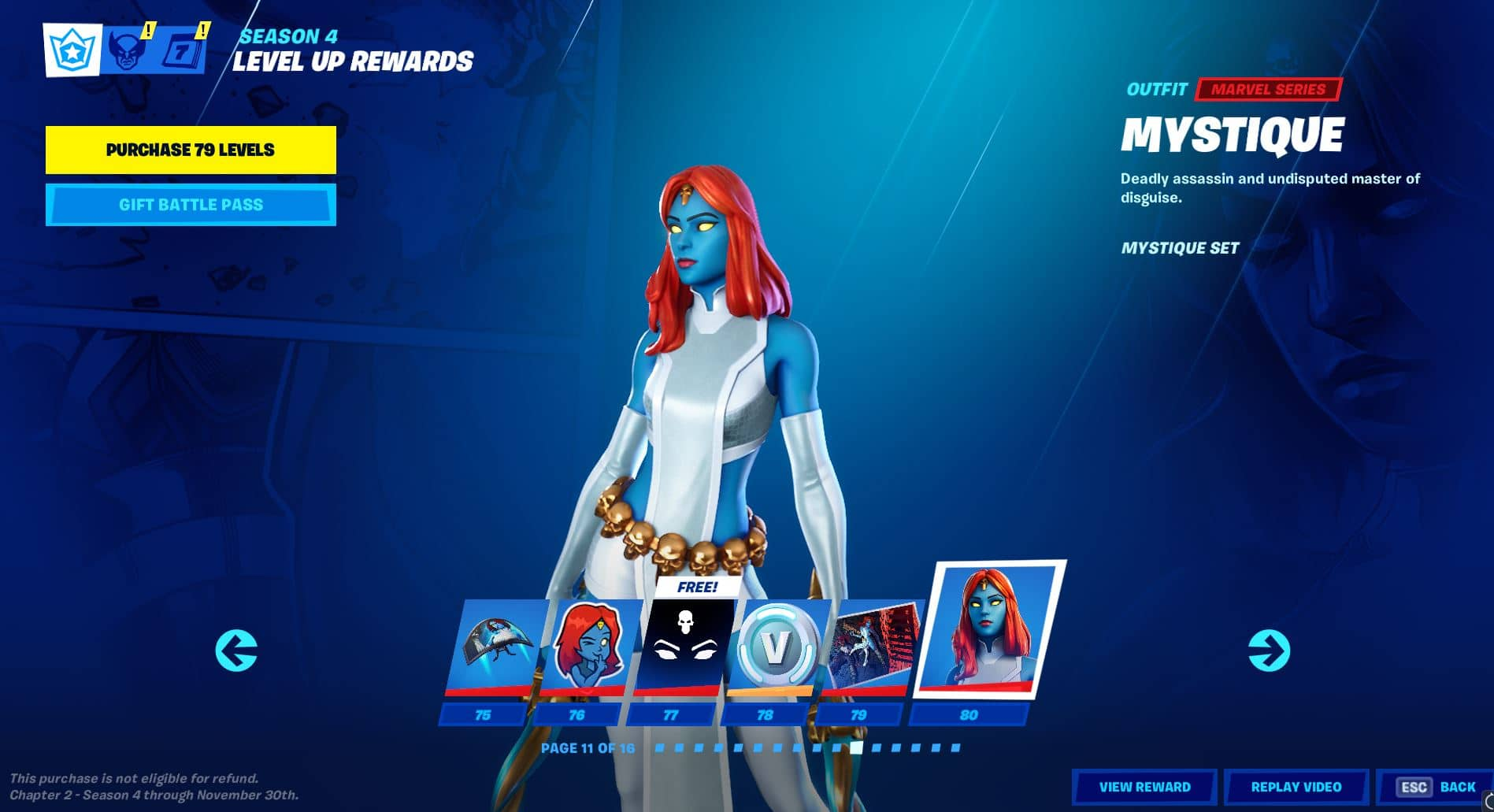 Fortnite Chapter 2, Season 4 Battle Pass Level 75 - 80