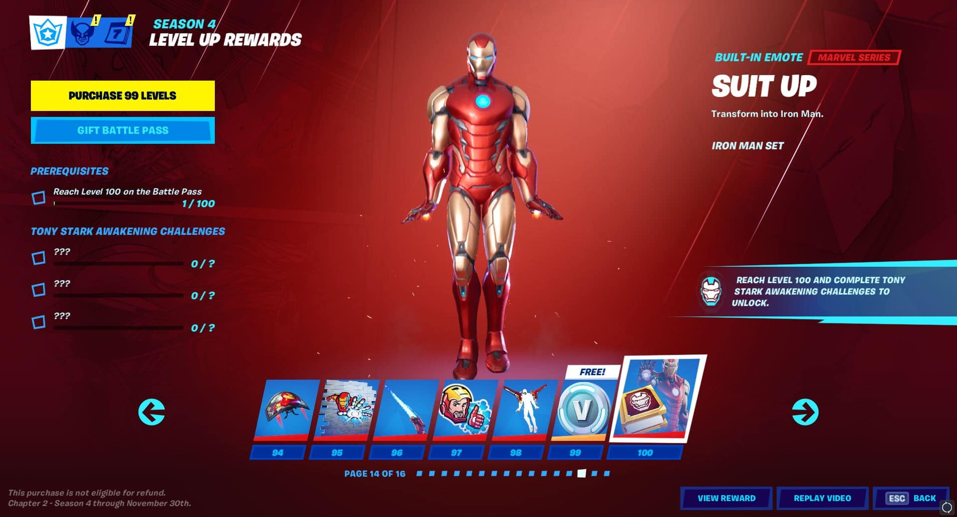 All Fortnite Chapter 2 Season 4 Season 14 Battle Pass Cosmetics Items Skins Pickaxes Gliders Emotes Wraps More