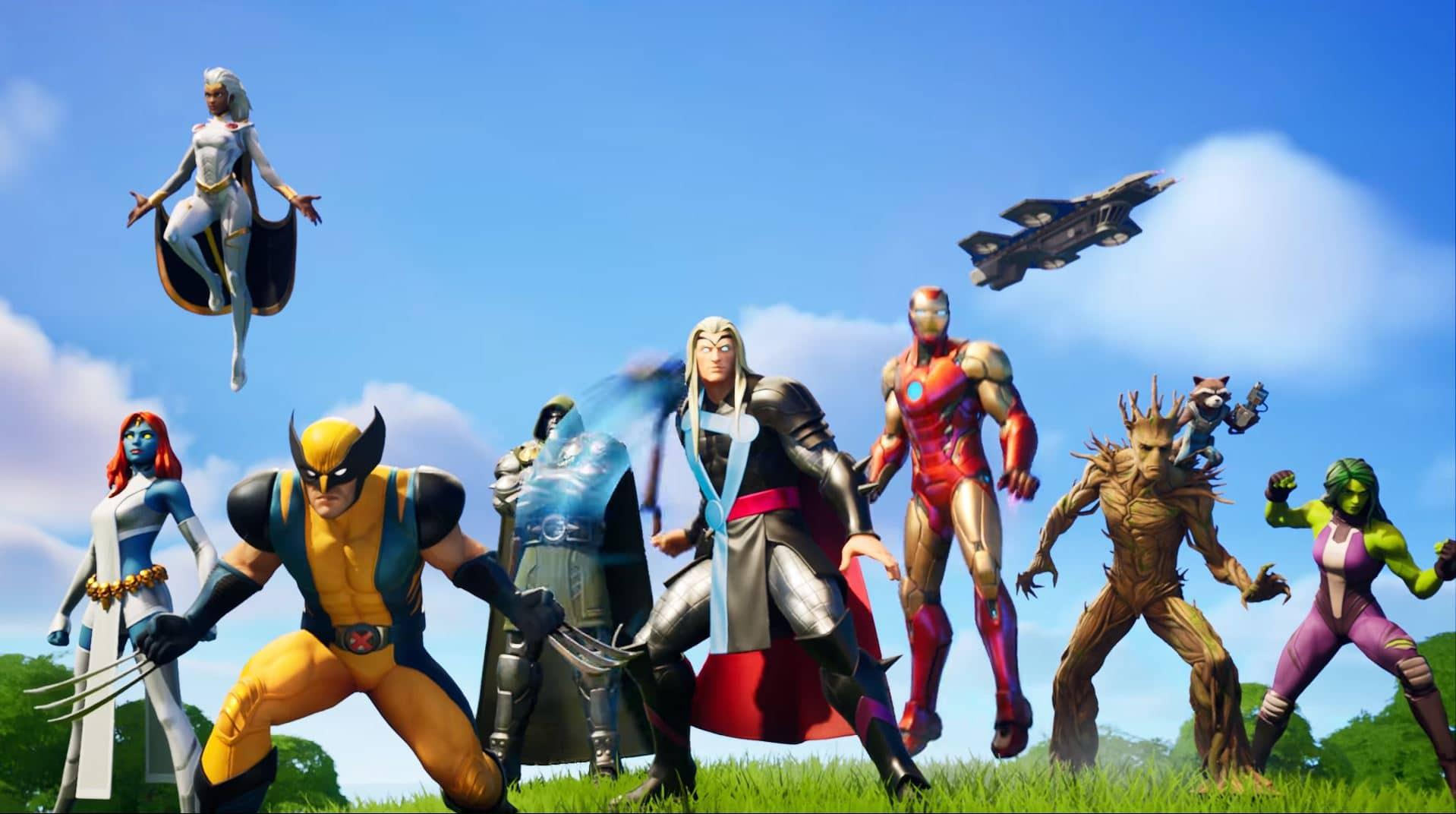 Fortnite Chapter 2 Season 4 Battle Pass Skins All Marvel Skins Fortnite Insider