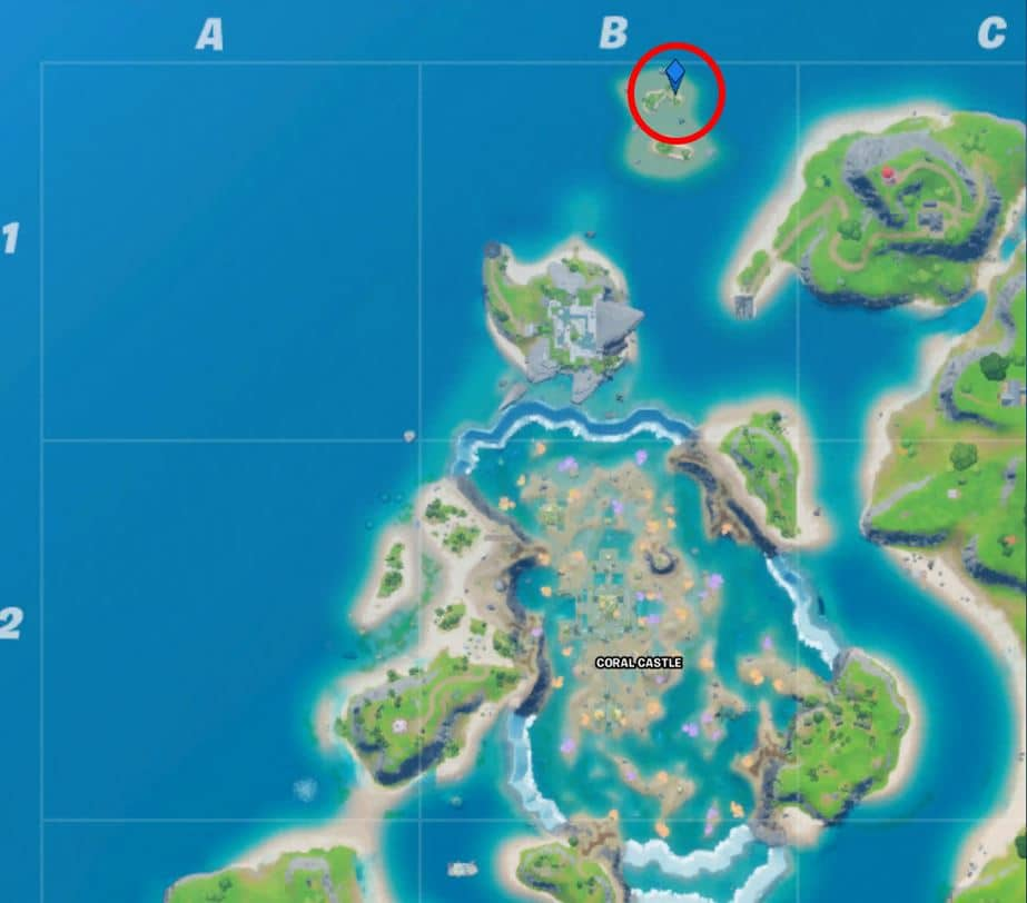 Fortnite Coral Buddies Reach for the Stars Map Location