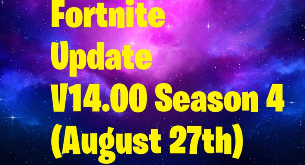 New Fortnite Update - 14.00 Patch Notes