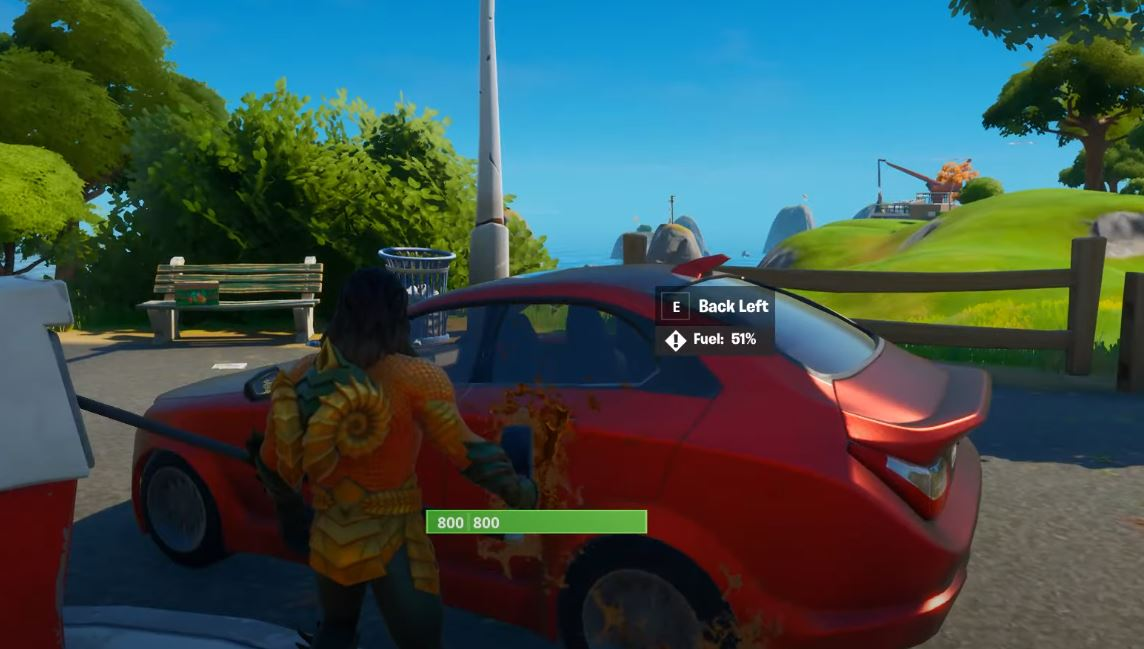 Where Are Cars Located In Fortnite How To Drive Use And Refuel Cars In Fortnite