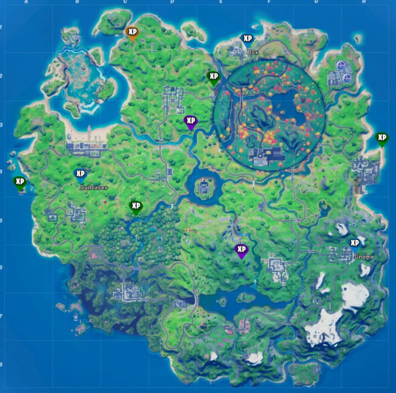 All Fortnite Week 5 XP Coins Map Locations