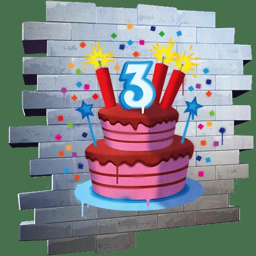 Fortnite Birthday 2020 Reward - The Big Three Spray