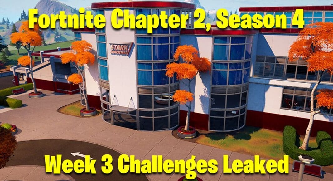 Fortnite Chapter 2, Season 4 Week 3 Challenges Leaked
