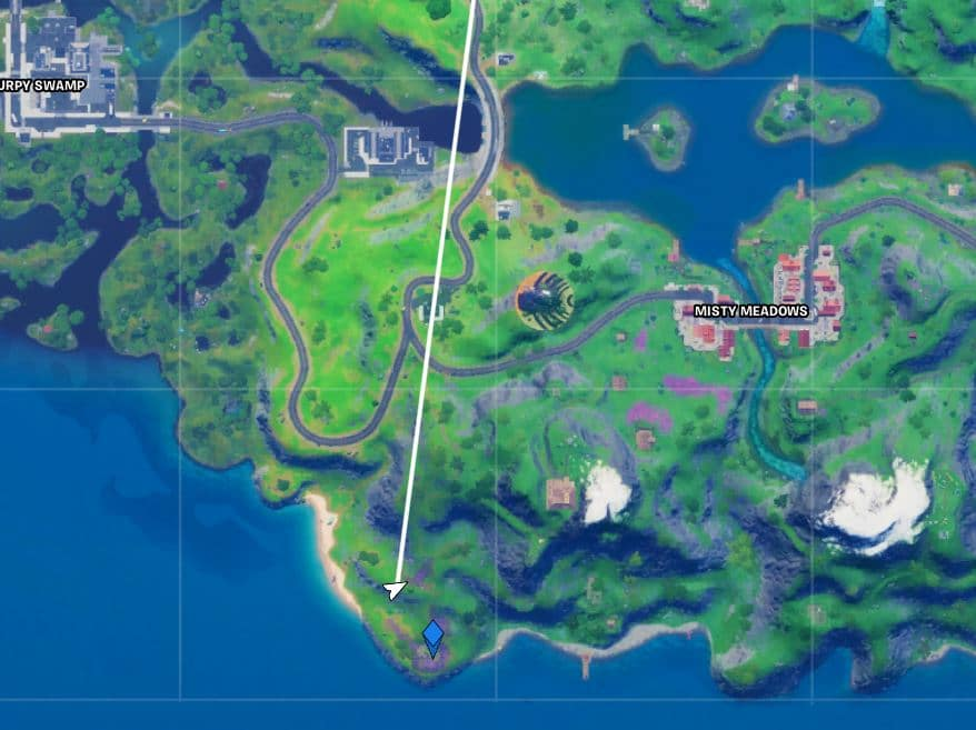 Fortnite Secret Quest - Gnom Talk Map Location