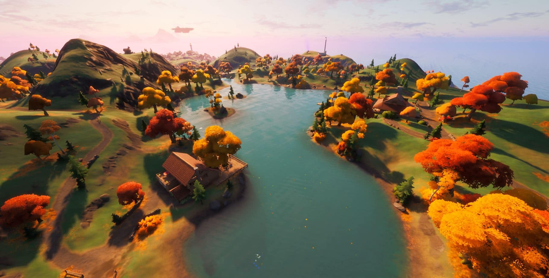 Cambios en el mapa de Fortnite v14.10 - Heart Lake Landmark