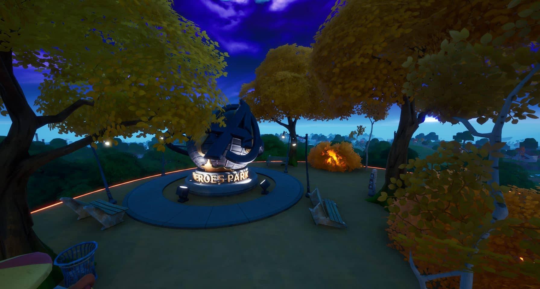 Fortnite v14.10 Map Changes - Heroes Park
