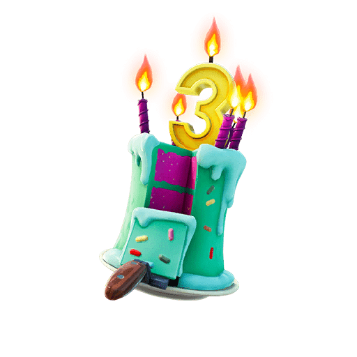 Fortnite Birthday 2020 Reward - Cake Back Bling