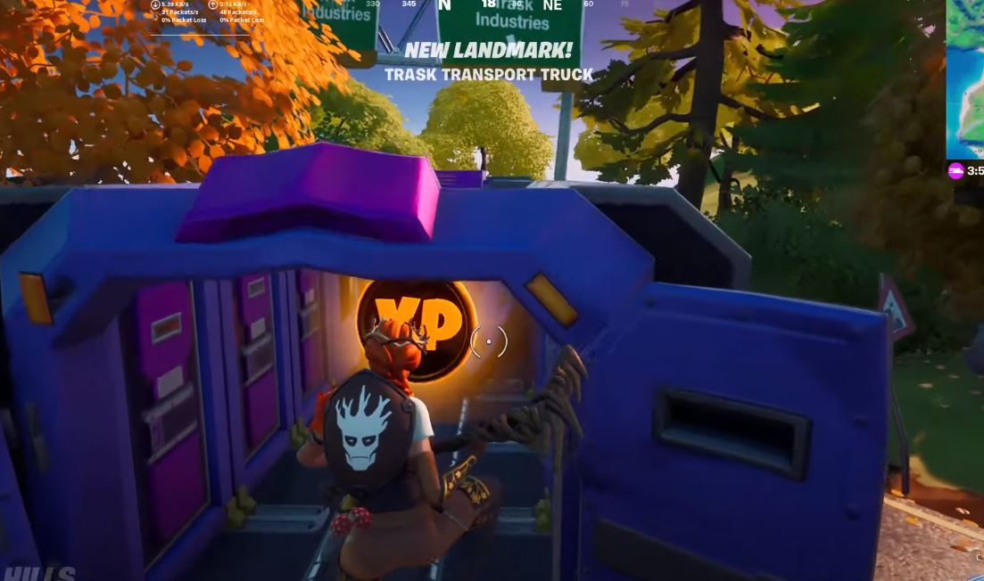 Fortnite week 5 gold xp coin location