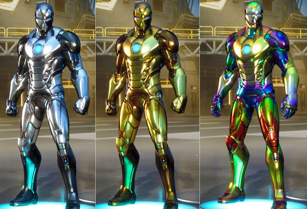 Iron man fortnite skin styles foil