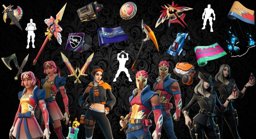 Names and Rarities of All Leaked Fortnite Cosmetics Found in v14.20 Files – Skins, Back Blings, Gliders, Pickaxes, Emotes & Wraps