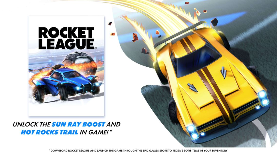 Rocket League Free Sun Ray Boost Hot Rocks Trail