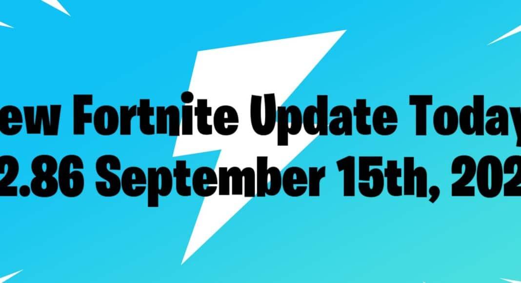 September 15th New Fortnite Update