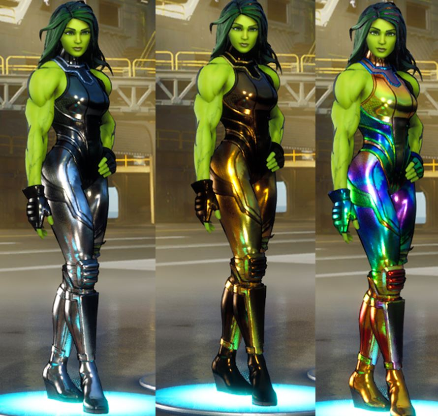 She-Hulk Fortnite foil skin styles