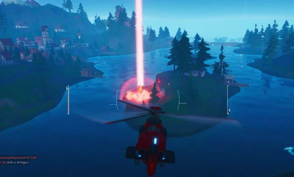 gorger spawn red beam light Fortnite