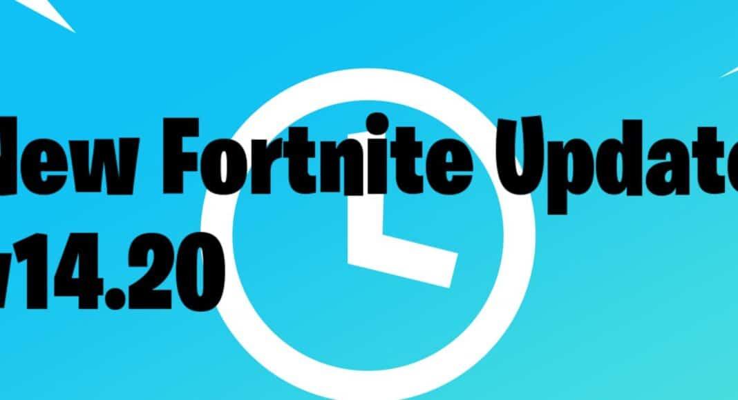 new Fortnite update today v14.20
